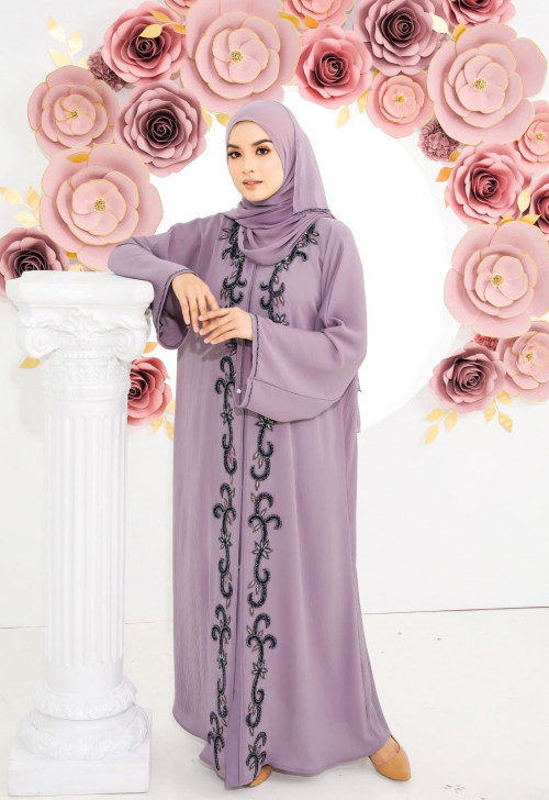 Teja Abaya Light Purple