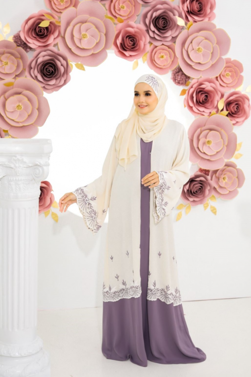 Open Dove Abaya Light Purple