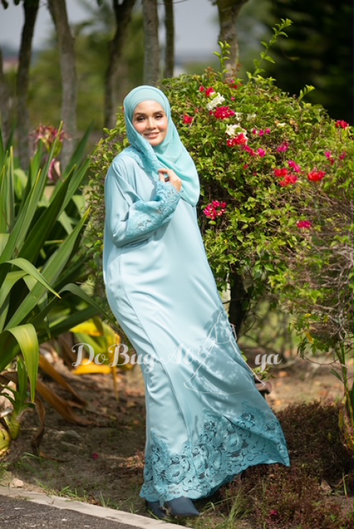 Ready Stocks Lily Lace Turquoise